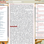 Figure 3. PoliMedia debate page with links to other collections